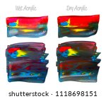 vector colorful paint smear... | Shutterstock .eps vector #1118698151