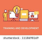 training and development icons | Shutterstock .eps vector #1118698169