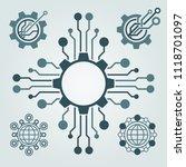 set of technology logo design.... | Shutterstock .eps vector #1118701097