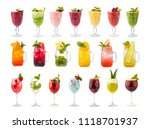 set of classic alcohol... | Shutterstock . vector #1118701937