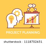project planning icons | Shutterstock .eps vector #1118702651