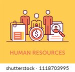 human resources icons | Shutterstock .eps vector #1118703995