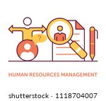 human resources management icons | Shutterstock .eps vector #1118704007