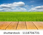 rice cultivation in thailand. | Shutterstock . vector #1118706731