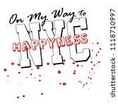 stylish trendy slogan tee t... | Shutterstock .eps vector #1118710997