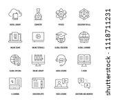 online education icon set | Shutterstock .eps vector #1118711231