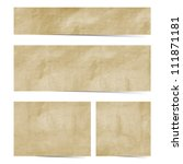 recycled paper stick on white ...   Shutterstock . vector #111871181