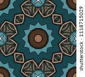 floral geometric seamless... | Shutterstock .eps vector #1118715029