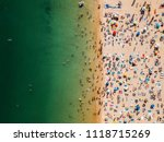 aerial view from flying drone... | Shutterstock . vector #1118715269