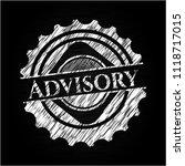 advisory chalkboard emblem... | Shutterstock .eps vector #1118717015
