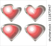 buttons of love a set of red... | Shutterstock .eps vector #111873947