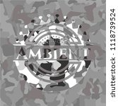 ambient on grey camo pattern | Shutterstock .eps vector #1118739524
