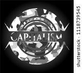 capitalism on grey camo texture | Shutterstock .eps vector #1118739545