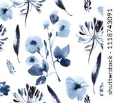 seamless floral pattern | Shutterstock . vector #1118743091