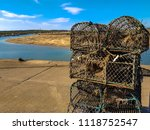 the iconic crab cages on wells...   Shutterstock . vector #1118752547