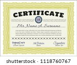 yellow certificate. artistry... | Shutterstock .eps vector #1118760767