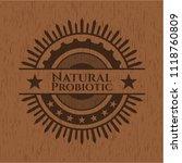 natural probiotic retro wooden... | Shutterstock .eps vector #1118760809