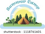 vector tent on the nature | Shutterstock .eps vector #1118761601