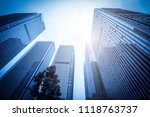 the modern buildings of the... | Shutterstock . vector #1118763737