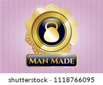 gold badge or emblem with... | Shutterstock .eps vector #1118766095