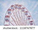 retro toned picture of a ferris ... | Shutterstock . vector #1118767877