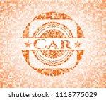 car orange mosaic emblem | Shutterstock .eps vector #1118775029