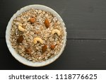 muesli with nuts. muesli on a... | Shutterstock . vector #1118776625