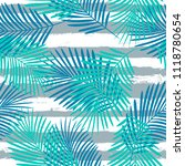 tropical pattern  palm leaves... | Shutterstock .eps vector #1118780654