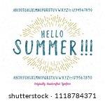summer  font. hand made... | Shutterstock .eps vector #1118784371