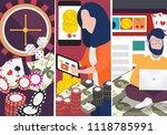 vector people playing in online ... | Shutterstock .eps vector #1118785991