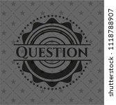 question dark emblem | Shutterstock .eps vector #1118788907