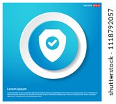 badge icon abstract blue web...