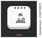 block user icon.   free vector... | Shutterstock .eps vector #1118792075