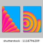 set fantastical bright covers.... | Shutterstock . vector #1118796209