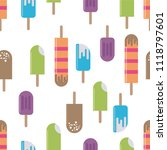delicious colorful ice cream... | Shutterstock .eps vector #1118797601
