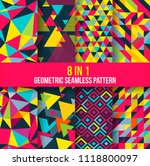 geometric seamless pattern... | Shutterstock .eps vector #1118800097