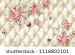 3d wallpaper design with floral ... | Shutterstock . vector #1118802101