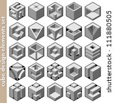 3d cube logo design pack | Shutterstock .eps vector #111880505