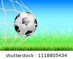 soccer game match goal moment...   Shutterstock .eps vector #1118805434