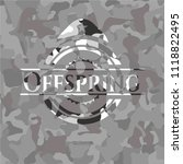 offspring on grey camouflage... | Shutterstock .eps vector #1118822495