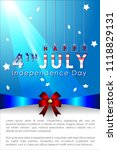 abstract happy 4th of july ... | Shutterstock .eps vector #1118829131