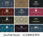 vector set of business cards on ... | Shutterstock .eps vector #1118842394