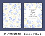 watercolor flower  background... | Shutterstock . vector #1118844671