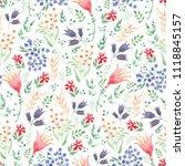 seamless watercolor background... | Shutterstock . vector #1118845157
