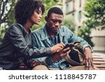 young happy black couple... | Shutterstock . vector #1118845787