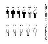 set percentage person pictogram ... | Shutterstock .eps vector #1118847005