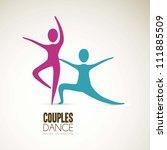illustration of couples dance... | Shutterstock .eps vector #111885509