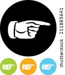 hand pointing right    vector... | Shutterstock .eps vector #111885641