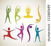 illustration of yoga and dance... | Shutterstock .eps vector #111885689