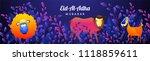 eid al adha  islamic festival... | Shutterstock .eps vector #1118859611